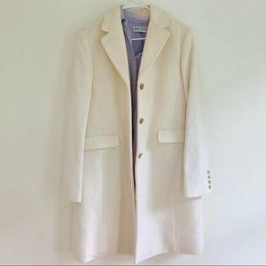 J. Crew Cream/ White Regent Wool & Cashmere Coat